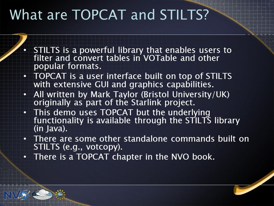 What are TOPCAT and STILTS