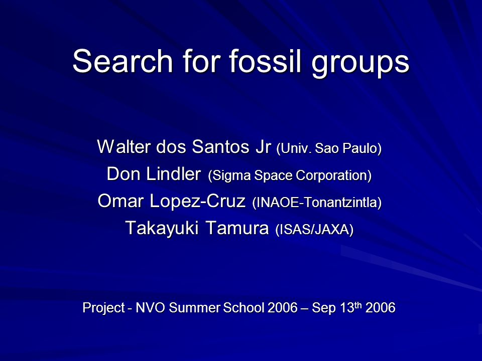 Search for fossil groups