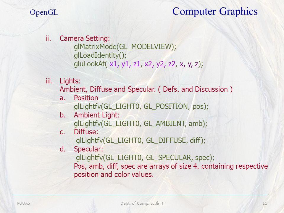 OpenGL Computer Graphics