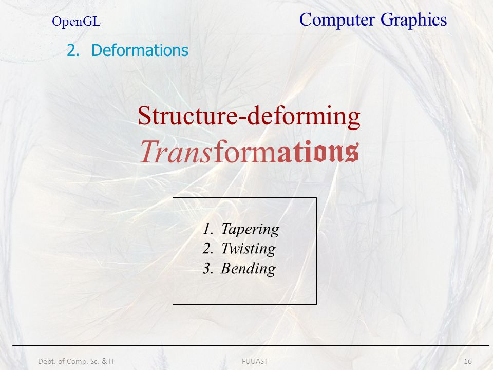 Structure-deforming Transformations