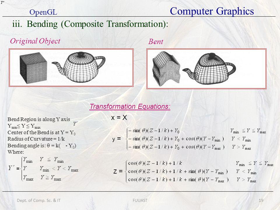 iii. Bending (Composite Transformation):