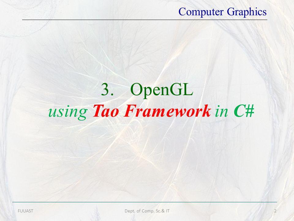 using Tao Framework in C#