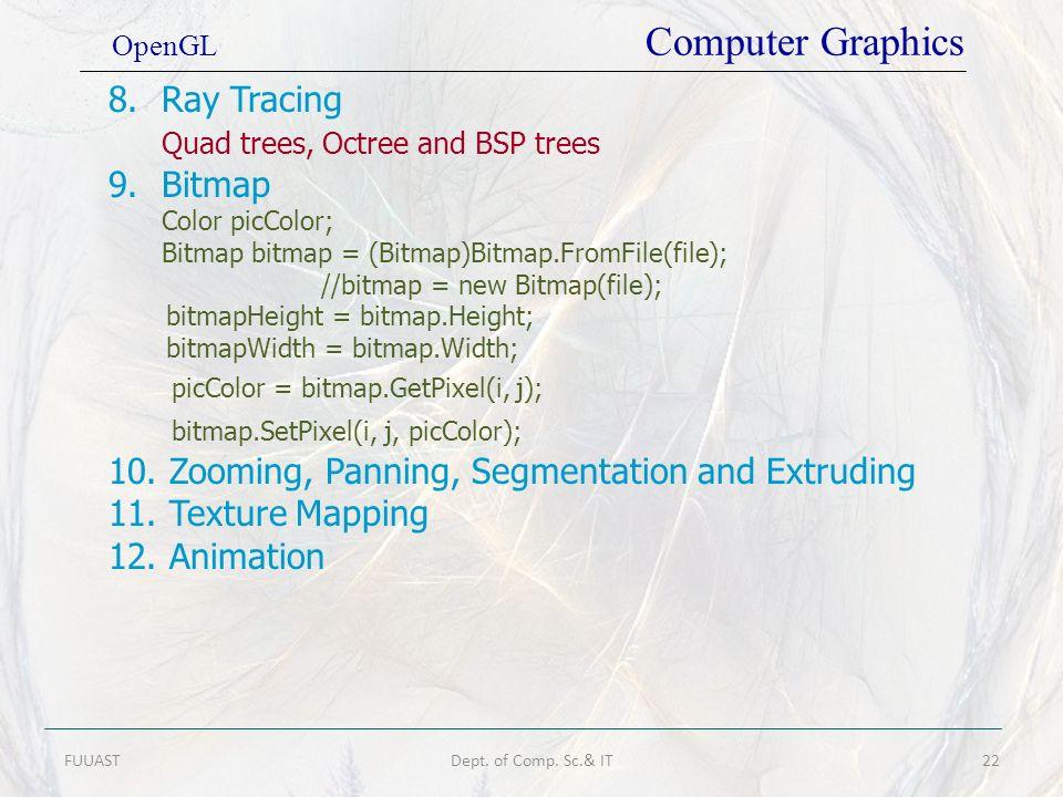 Quad trees, Octree and BSP trees Bitmap