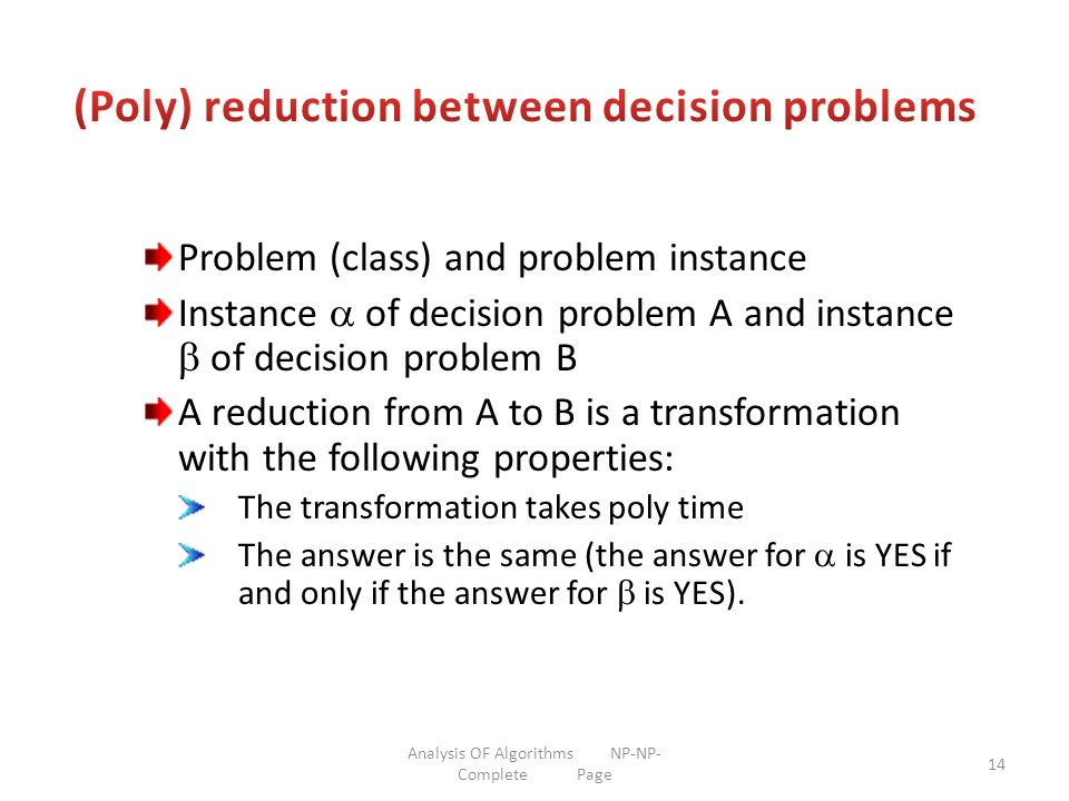 (Poly) reduction between decision problems