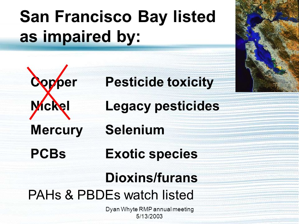 San Francisco Bay listed as impaired by: