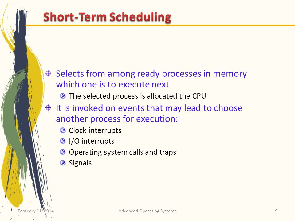 Short-Term Scheduling