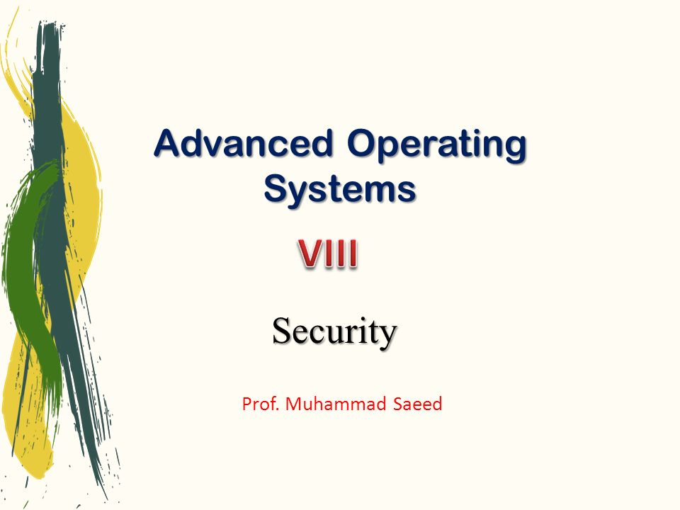 Advanced Operating Systems