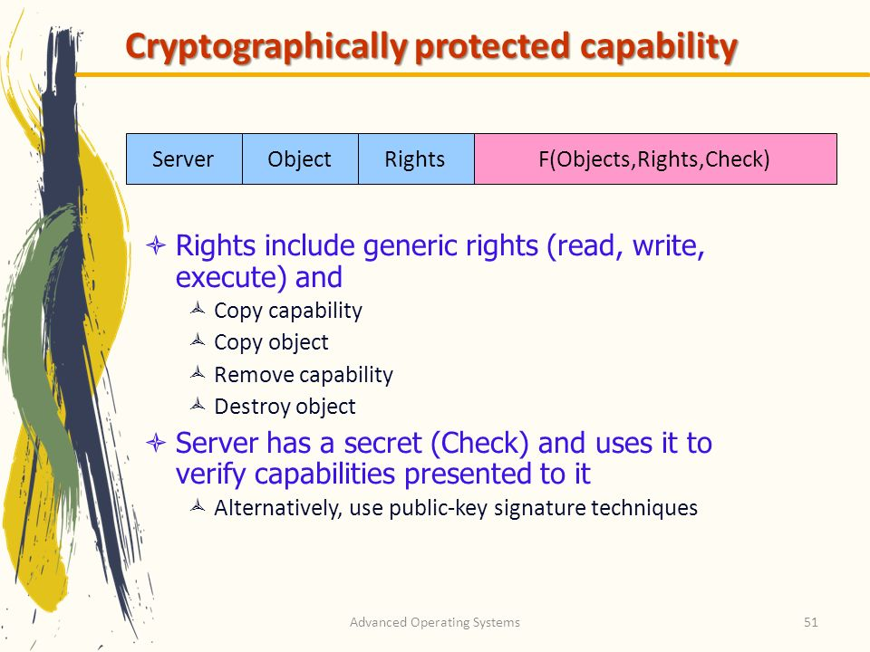 Cryptographically protected capability