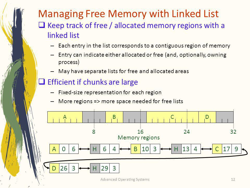 Managing Free Memory with Linked List