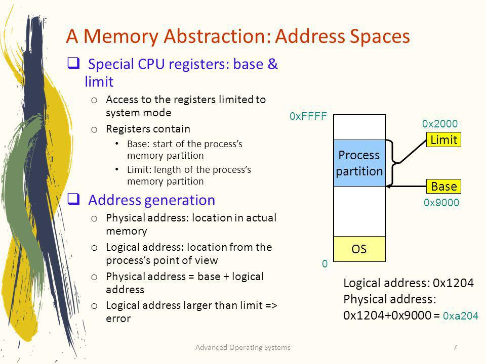 A Memory Abstraction: Address Spaces
