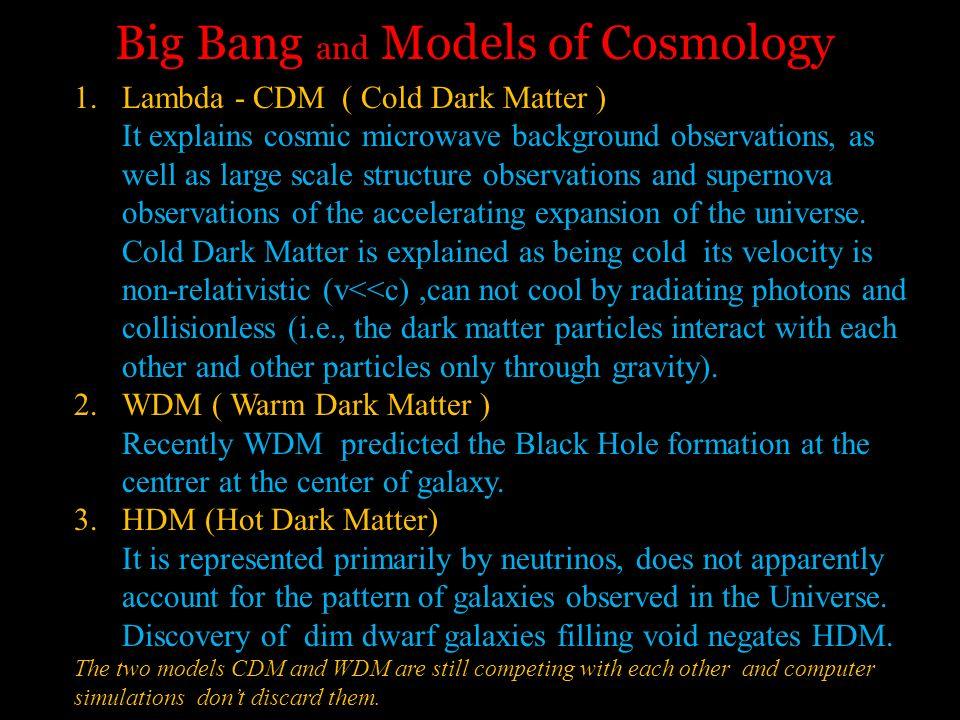 Big Bang and Models of Cosmology