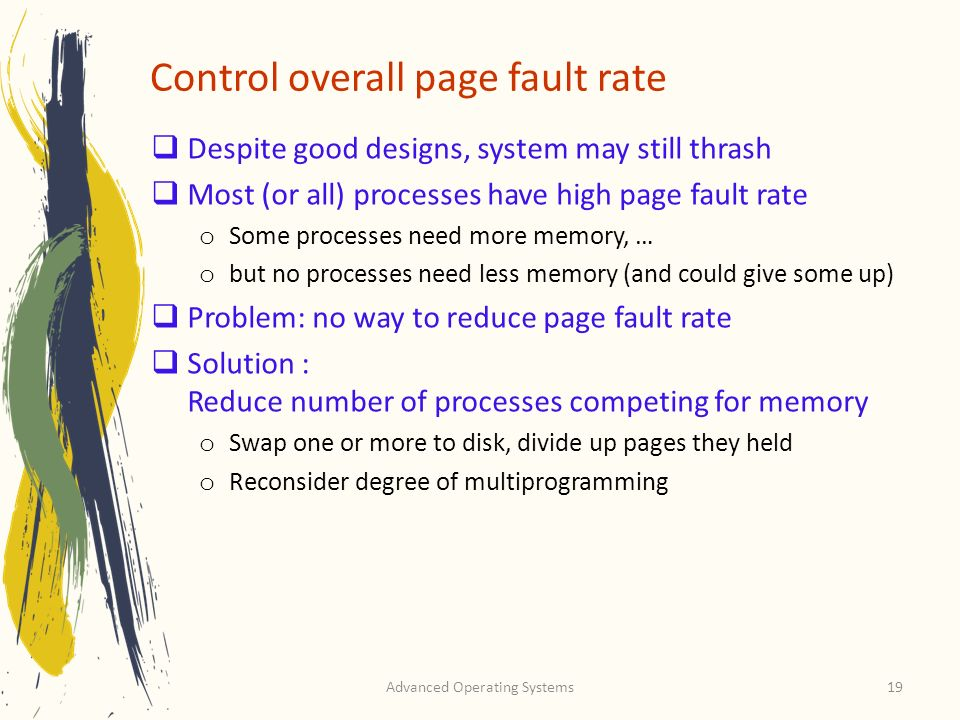 Control overall page fault rate