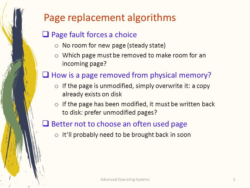 Page replacement algorithms