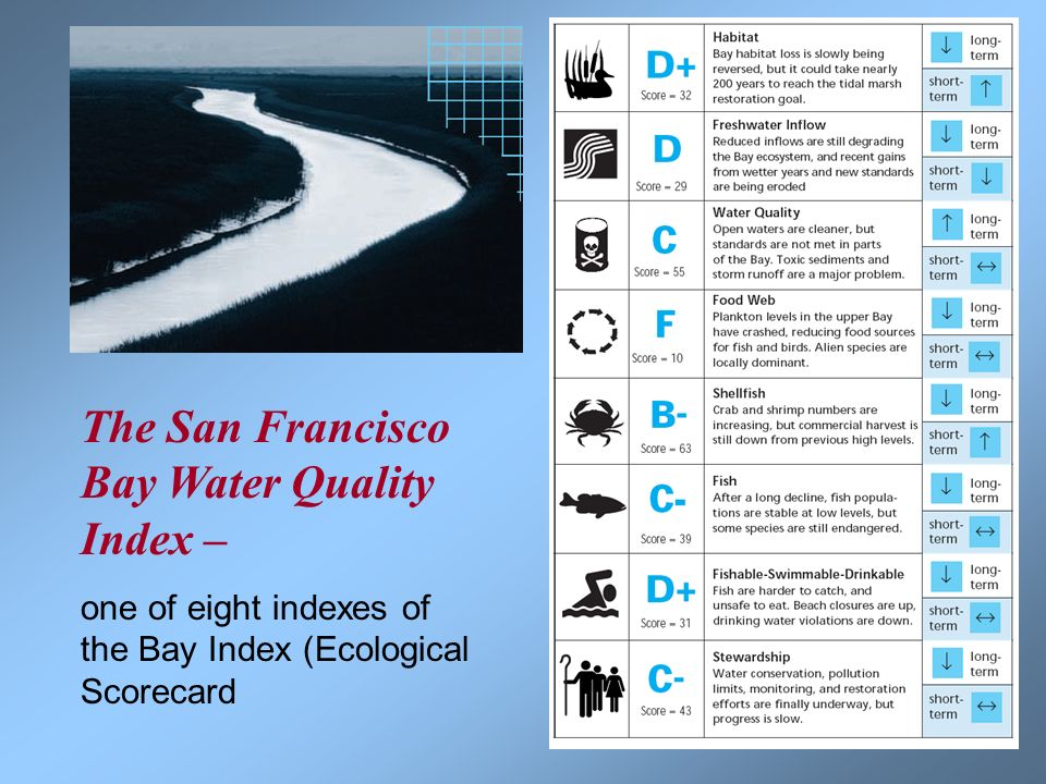 The San Francisco Bay Water Quality Index –