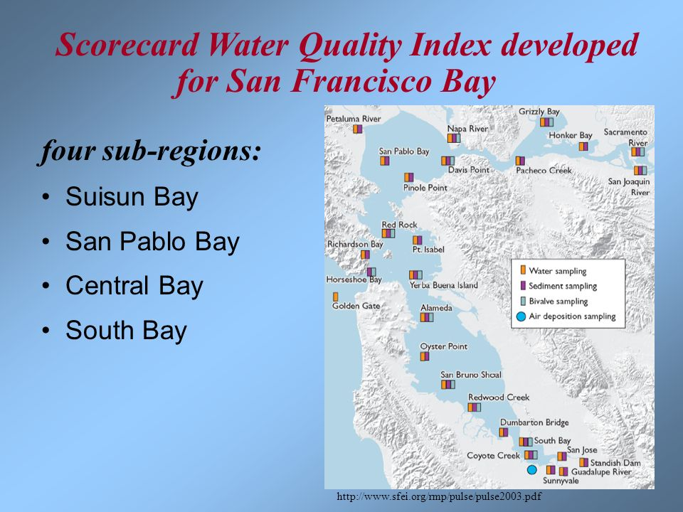 Scorecard Water Quality Index developed for San Francisco Bay