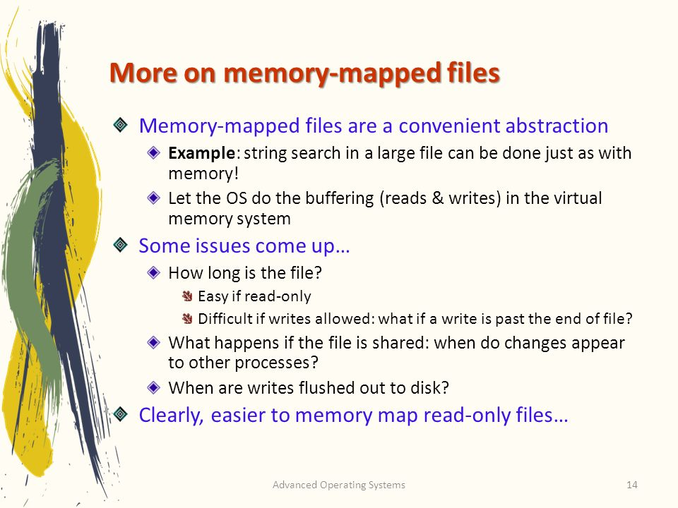More on memory-mapped files