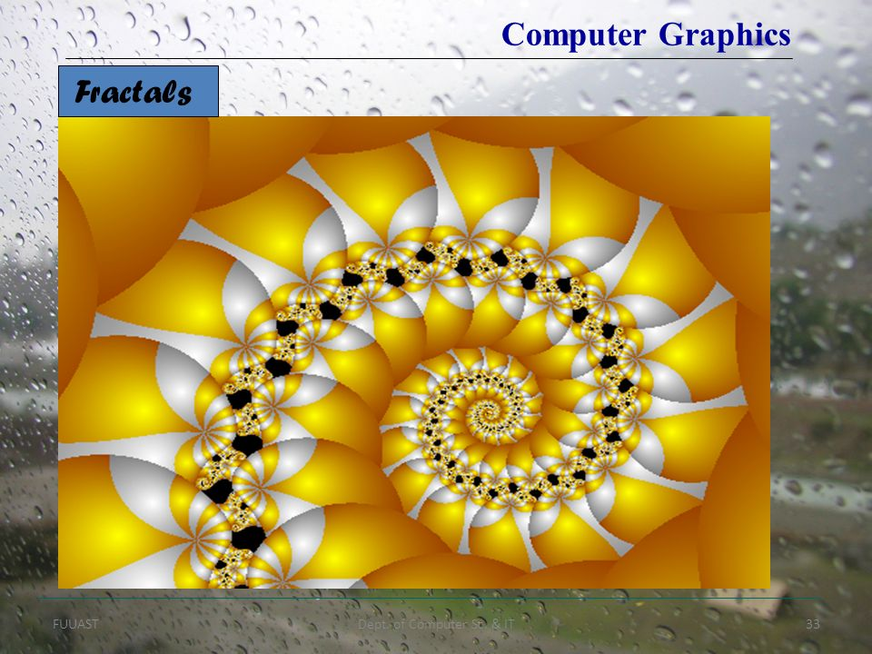 Computer Graphics Fractals FUUAST Dept. of Computer Sc. & IT