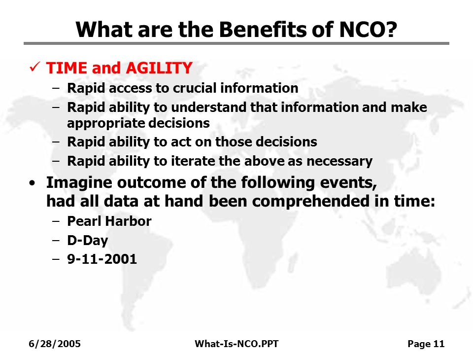 What are the Benefits of NCO