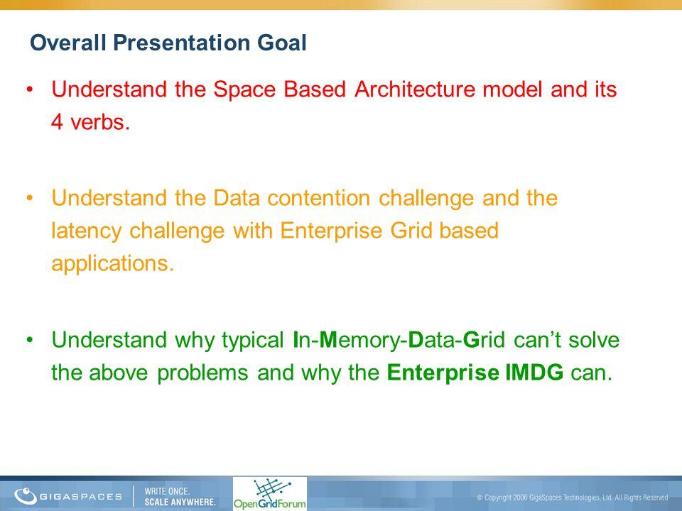 Overall Presentation Goal