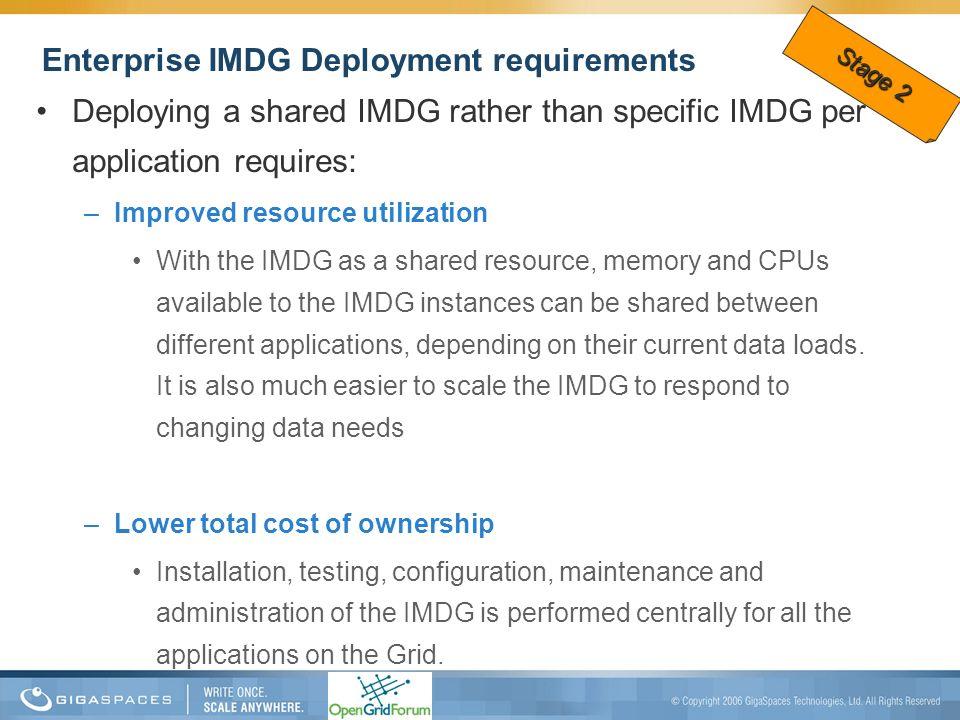 Enterprise IMDG Deployment requirements