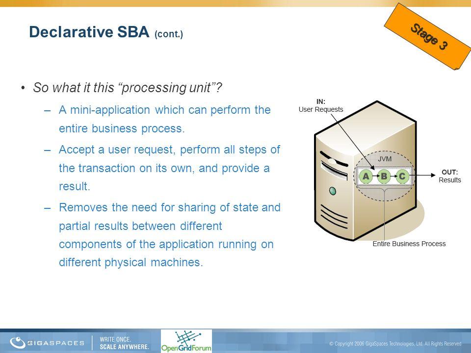 Declarative SBA (cont.)