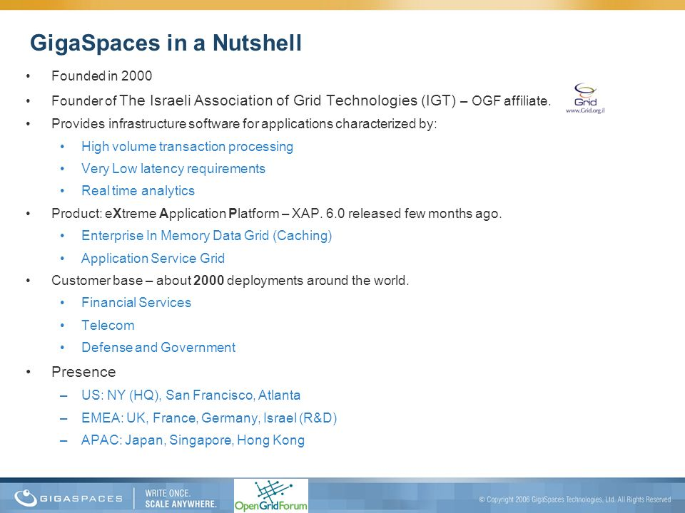 GigaSpaces in a Nutshell