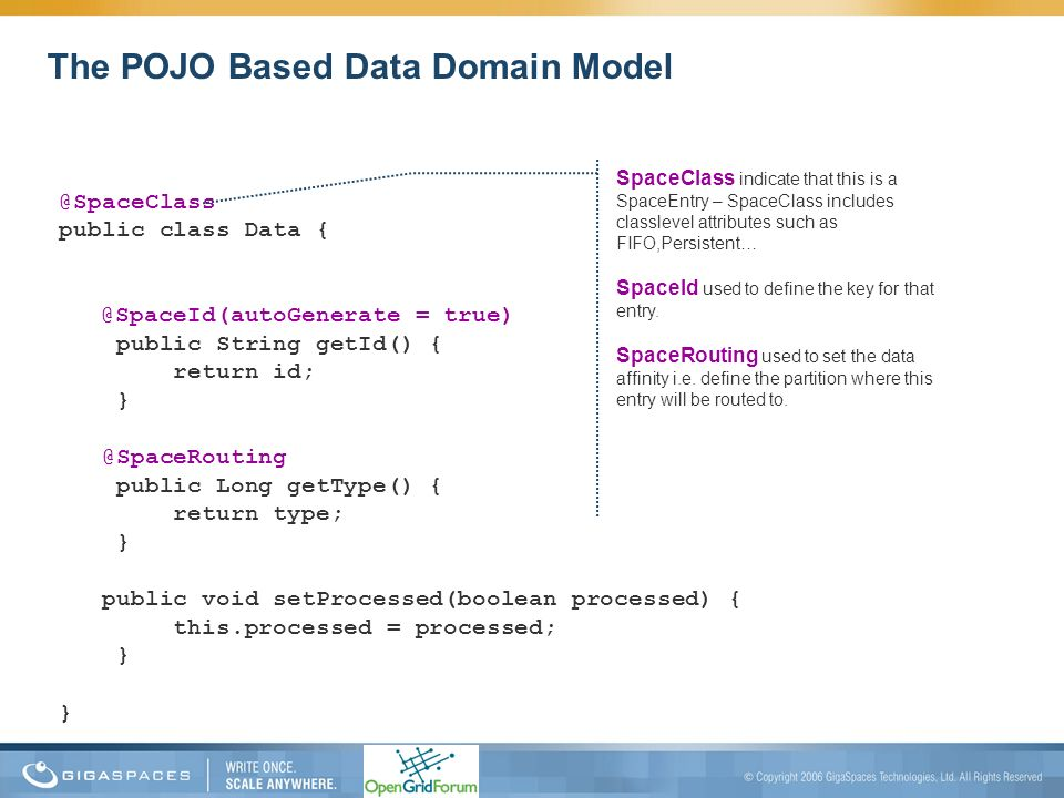 The POJO Based Data Domain Model