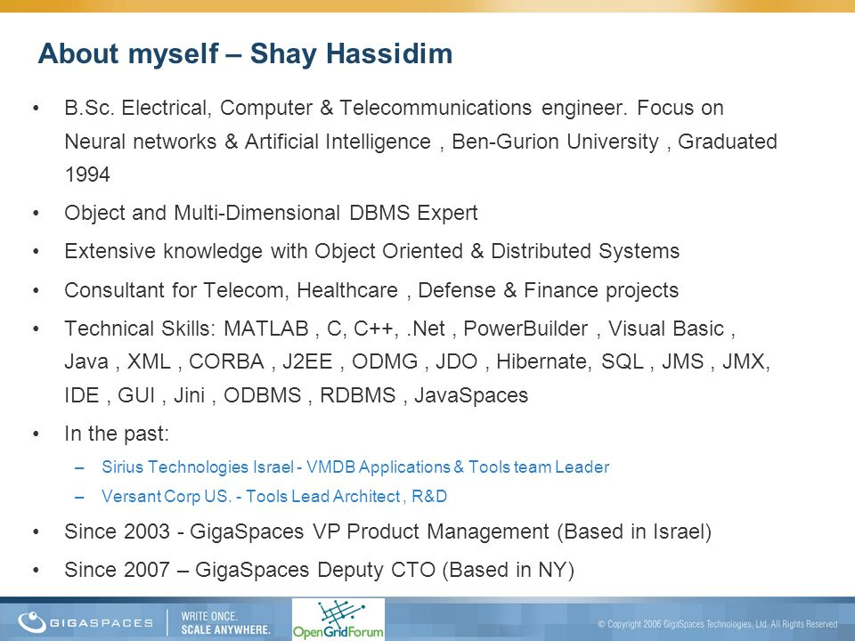 About myself – Shay Hassidim