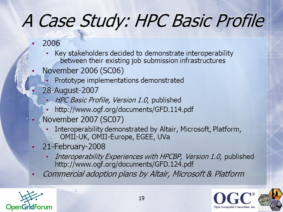 A Case Study: HPC Basic Profile