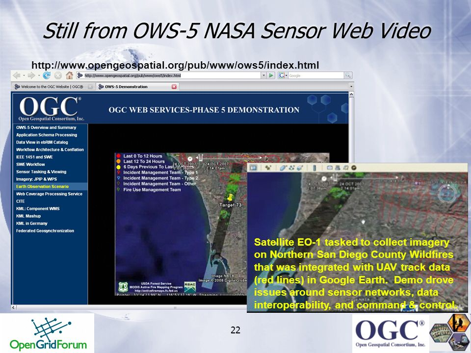 Still from OWS-5 NASA Sensor Web Video