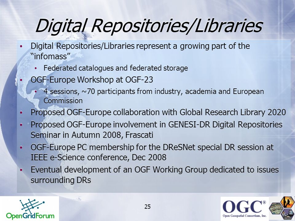 Digital Repositories/Libraries