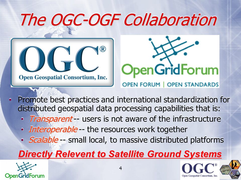 The OGC-OGF Collaboration