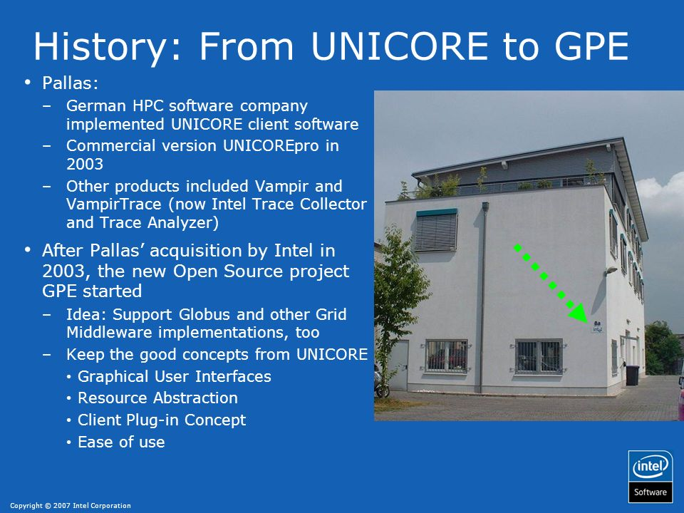 History: From UNICORE to GPE