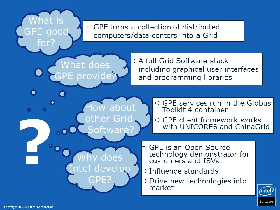 What is GPE good for What does GPE provide How about other Grid