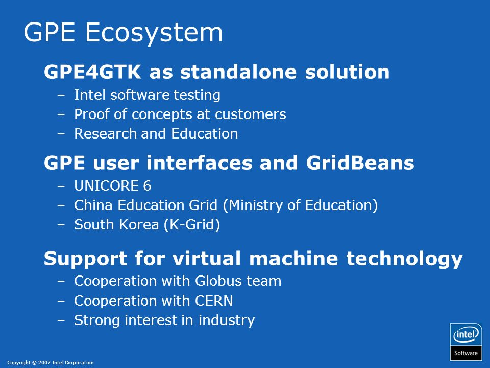GPE Ecosystem GPE4GTK as standalone solution