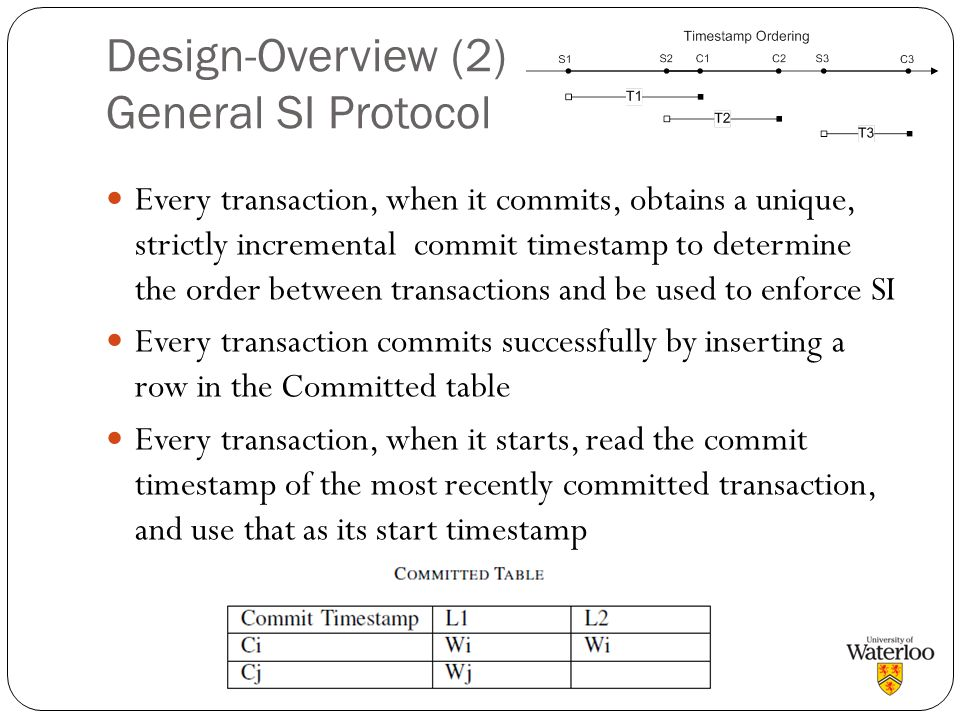 Design-Overview (2) General SI Protocol