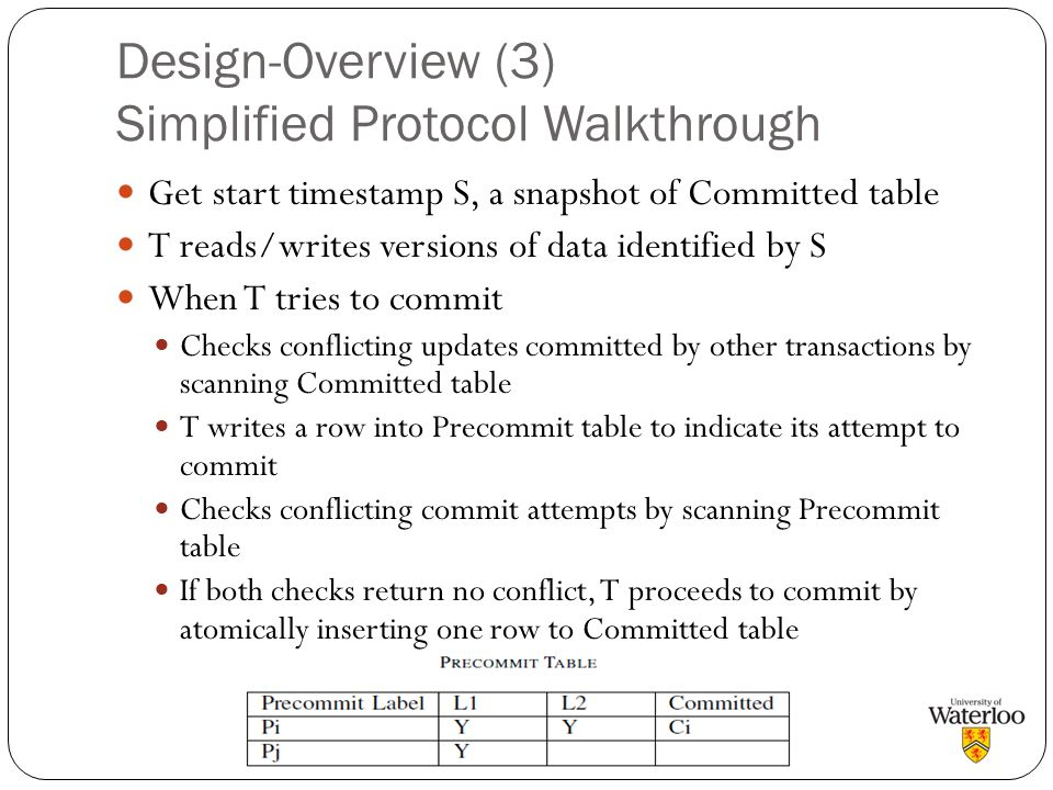 Design-Overview (3) Simplified Protocol Walkthrough