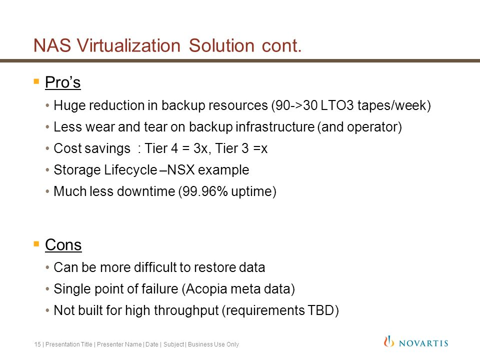 NAS Virtualization Solution cont.