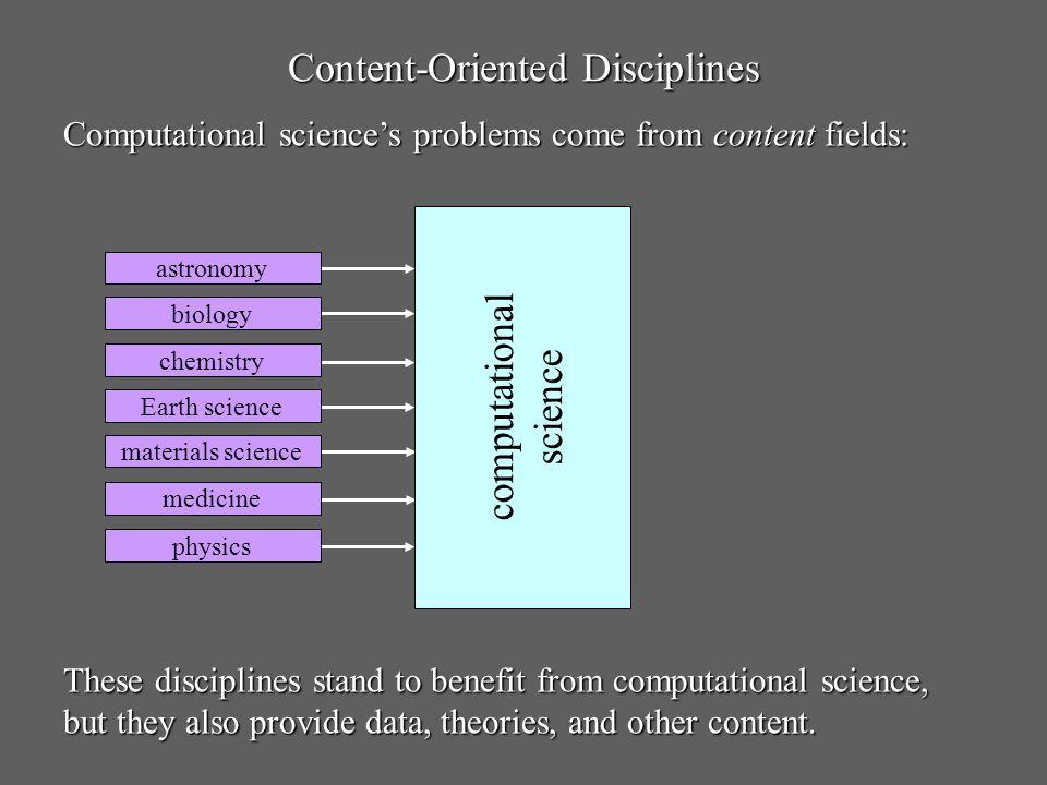 Content-Oriented Disciplines