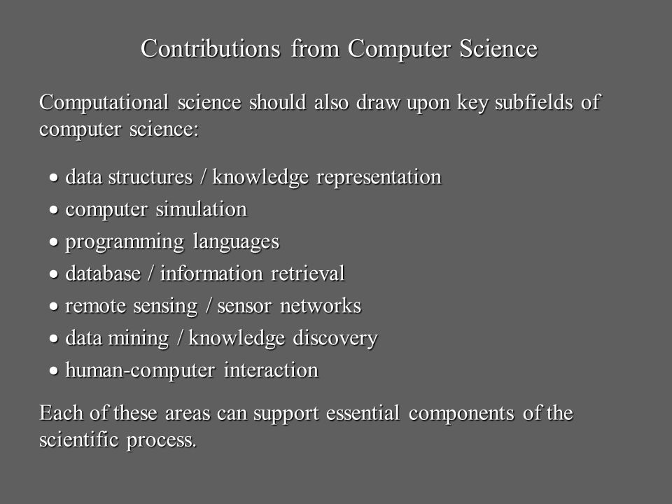 Contributions from Computer Science