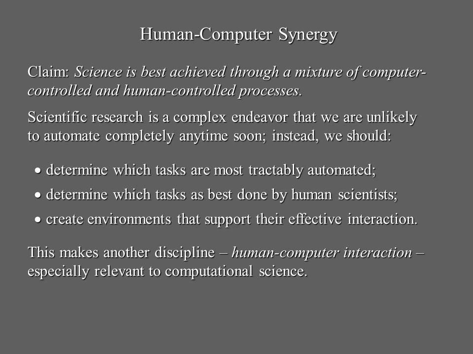 Human-Computer Synergy