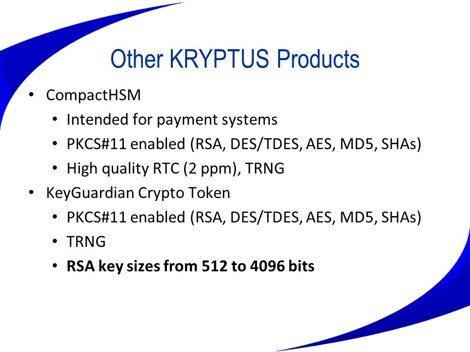 Other KRYPTUS Products