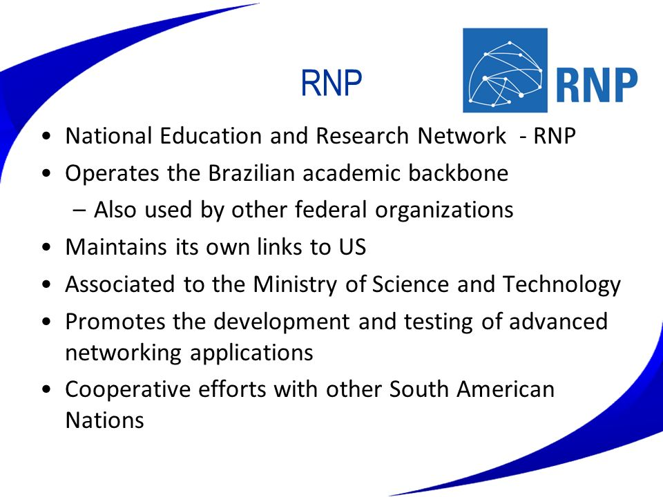 RNP National Education and Research Network - RNP