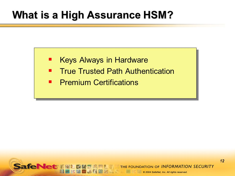 What is a High Assurance HSM