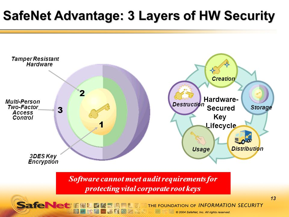 SafeNet Advantage: 3 Layers of HW Security