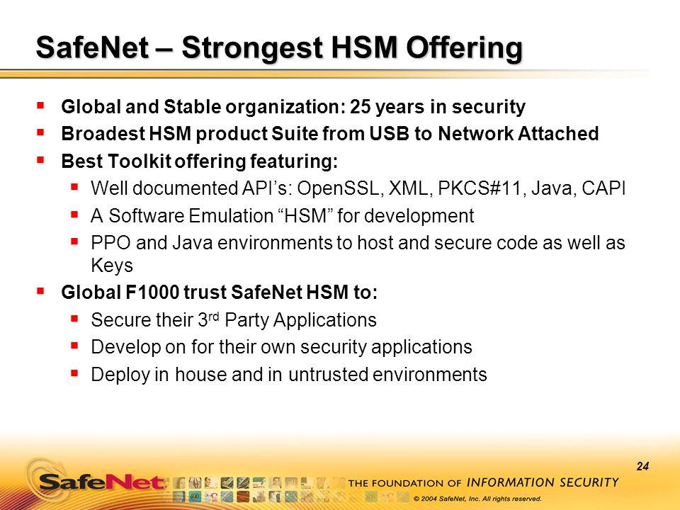 SafeNet – Strongest HSM Offering