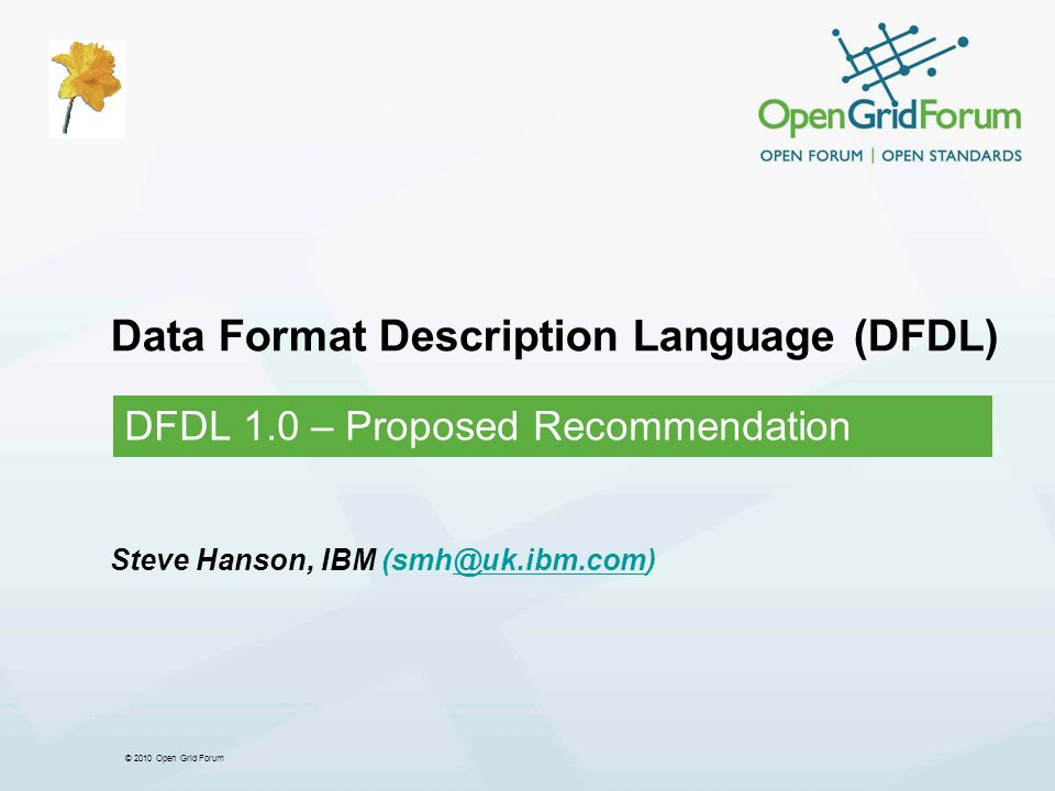 Data Format Description Language (DFDL)