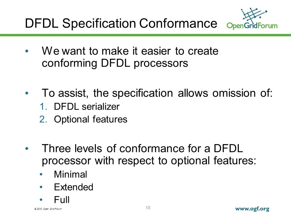 DFDL Specification Conformance