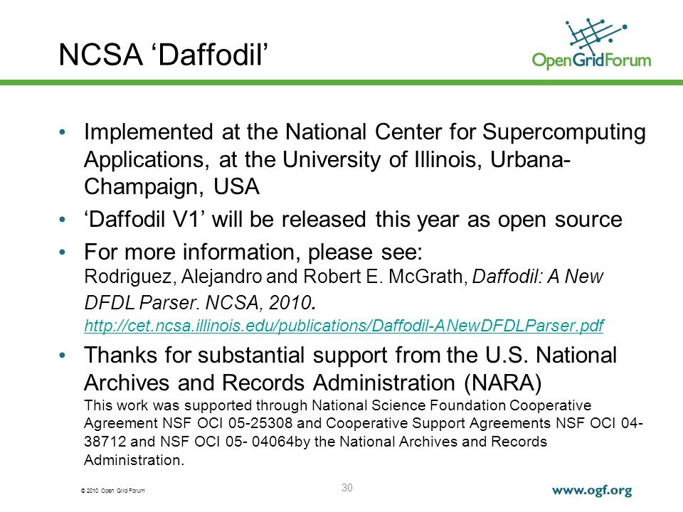 NCSA 'Daffodil' Implemented at the National Center for Supercomputing Applications, at the University of Illinois, Urbana-Champaign, USA.