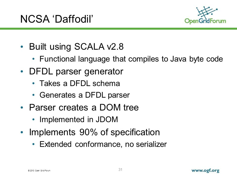 NCSA 'Daffodil' Built using SCALA v2.8 DFDL parser generator